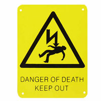 DOD1 - Danger of Death smal sign