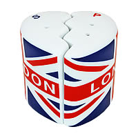 P5-5 - Union Jack Flag s/pepper shakers
